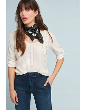 Clark Ruffled Henley Top by Daniel Rainn