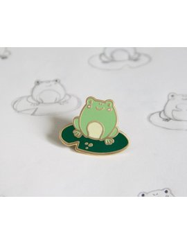 Frog Enamel Pin by Etsy