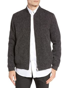 Grey Harvey Bomber Jacket by Topman