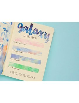 Galaxy Washi Tapes   Starry Sky Washi Tape   Bullet Journal Supplies   Japanese Masking Tape   Bujo Supplies   Nebula Clouds Star Sellotape by Etsy