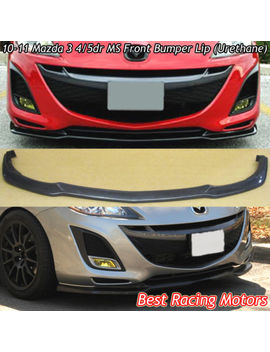 Ms Style Front Lip (Urethane) Fits 10 11 Mazda 3 by Best Racing Motors