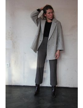 90s Midi Wool Coat M by Etsy