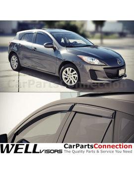 Well Visors Window Visors 10 13 Mazda 3 Hb Sun Visors Deflectors by Well Visors