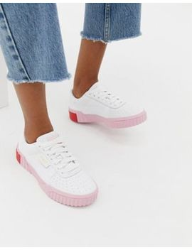 Puma Cali White And Pink Sneakers by Puma
