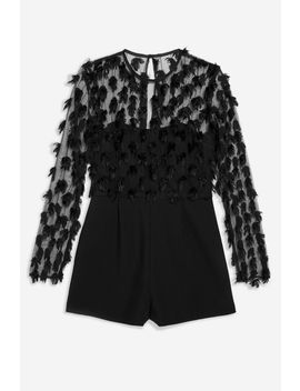 Tufty Playsuit by Topshop