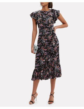 Nanon Ruffle Midi Dress by Cinq à Sept