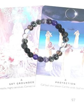 Grounding & Protection Gemstone Bracelet. Shield, Protect, Ground, Empath, Aura, Psychic Protection, Balancing, Menopause, Aromatherapy. by Etsy
