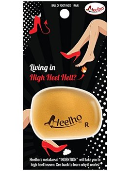 Living In High Heel Hell? Heelho Patented Ball Of Foot Cushion Offload Pressure Pain From Wearing High Heels. Follow Directions Carefully As Placement Is The Key by Heelho