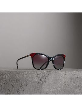 Marble Effect Square Frame Sunglasses by Burberry