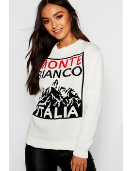 Petite Slogan Novelty Christmas Jumper by Boohoo