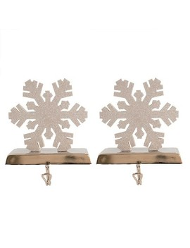 Wood Snowflake Christmas Stocking Holder 2ct   Wondershop™ by Wondershop