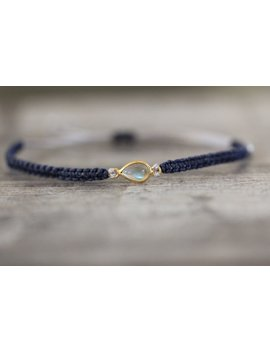 Labradorite Bracelet In Navy by Etsy
