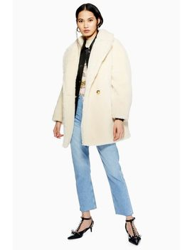 Super Soft Borg Coat by Topshop