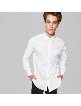 Men's Long Sleeve Long Line Button Down Shirt   Original Use™ by Original Use