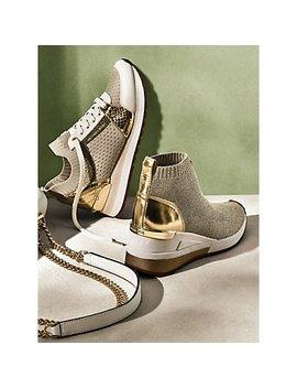 Skyler Metallic Knit High Top Trainer, Billie Metallic Knit Sneaker by Michael Michael Kors