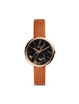 Annette Three Hand Luggage Leather Watch by Fossil