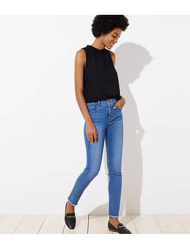 Modern Soft Skinny Jeans In Pure Mid Indigo Wash by Loft