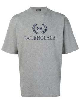 T Shirt Met  Bb Logo by Balenciaga
