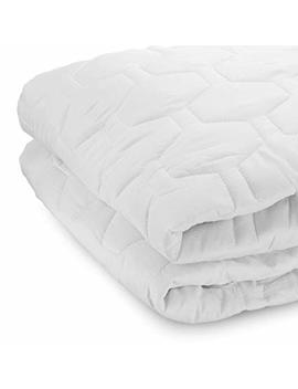 """The Grand Fitted Quilted Mattress Pad Cover Hypoallergenic (Stretches To 16"""" Deep – Full   54x75"""") Full Size Mattress Protector by The Grand"""