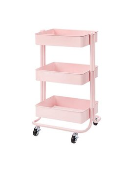 Darice 3 Tier Metal Rolling Cart: Blush Pink, 30 Inches by Darice