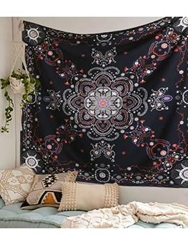 """Flber Lace Medallion Tapestry Wall Hanging Wall Headboard Bedspread Home Decor,60""""X 60""""(Purple) by Flber"""