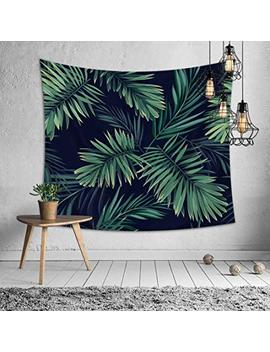 Tapestry Wall Hanging   Wall Tapestry Palm Tree Leaf Tapestry Tropical Plants Tapestries For Bedroom Living Room Dorm (79'' X 59'') by Roffel