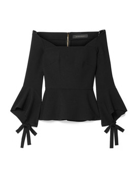 Holden Off The Shoulder Stretch Crepe Top by Roland Mouret