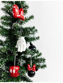 Typo X Disney Mickey & Minnie Holidays Decoration Bauble Pack by Typo