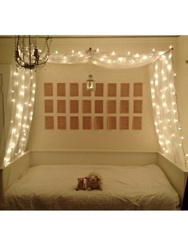 White Decorative Bed Canopy by Etsy