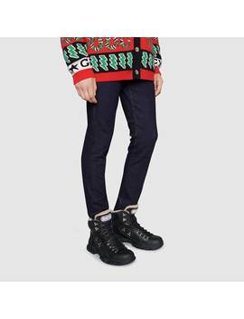 Sneaker Alta Flashtrek Con Lana by Gucci
