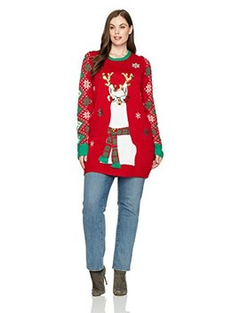 Blizzard Bay Women's Llama Holiday Ugly Christmas Sweater by Blizzard+Bay