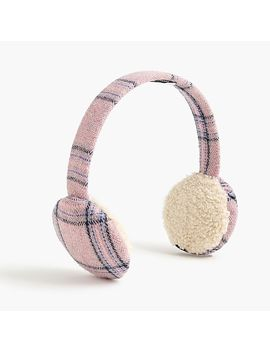 Bluetooth Earmuffs In Pink Plaid by J.Crew