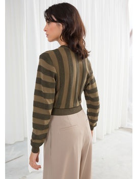 Cropped Glitter Stripe Sweater by & Other Stories