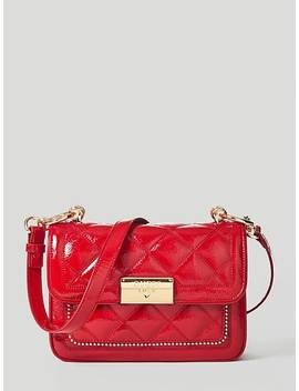 Vesper Patent Leather Crossbody Bag by Guess