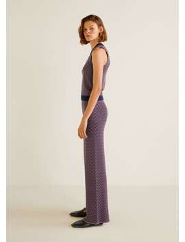 Geometric Knit Trousers by Mango