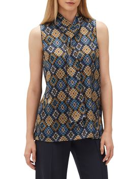 Abbie Artistry Silk Blouse by Lafayette 148 New York