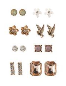 A Lot To You Stud Earring Set   Gold by Fashion Nova