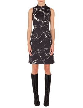 Marble Tile Jacquard Dress by Akris