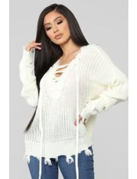 It Takes Time Sweater   Off White by Fashion Nova