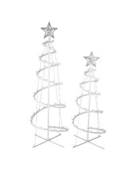 2ct Christmas Incandescent Spiral Trees Clear   Wondershop™ by Wondershop