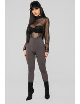 Remind You Again Bodysuit   Black by Fashion Nova