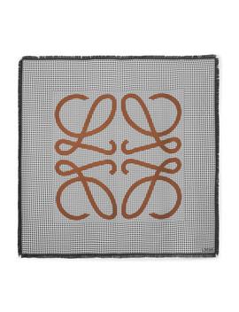 Fringed Printed Silk Scarf by Loewe