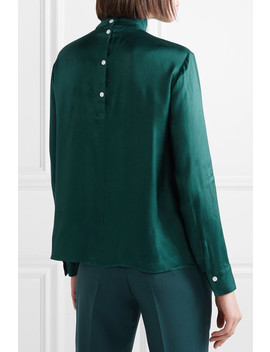 Wildi Pleated Satin Blouse by By Malene Birger