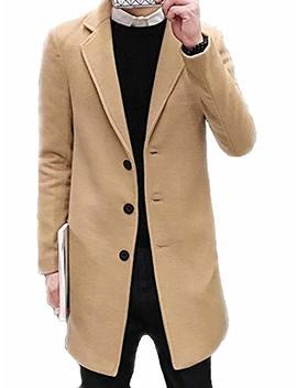 Betrothales Herren Herbst Elegant Jacken Trenchcoat Wollmantel College Lang Winterjacke Winter Bomberjacke Jacke Langarm Revers Slim Fit Warm Mantel Coat by Amazon