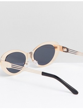 Asos Edition Oval Sunglasses In Gold Glitter by Asos Edition