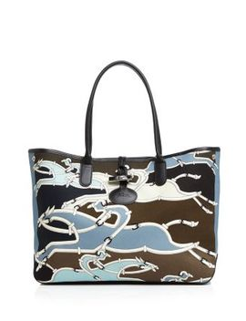 Roseau Galop Large Canvas Shoulder Tote by Longchamp