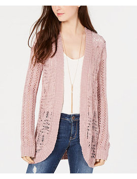 Juniors' Crochet Rounded Hem Cardigan, Created For Macy's by American Rag