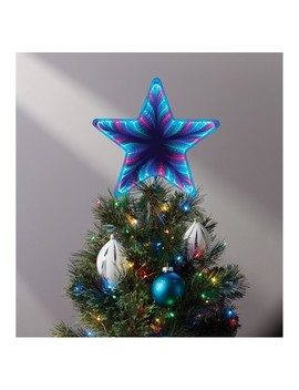 12'' Lit Infinity Functions Star Tree Topper Red/Green/Blue   Wondershop™ by Wondershop
