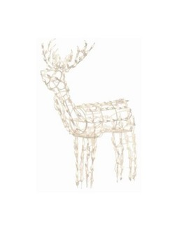 "Brite Star 48"" Lighted Standing Buck Deer Christmas Outdoor Decoration   Clear Lights by Brite Star"