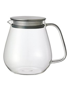Kinto Stainless Unitea One Touch Teapot 720 Ml. Heat Resistant Glass Teapot With Stainless Steel Strainer And Lid. by Kinto